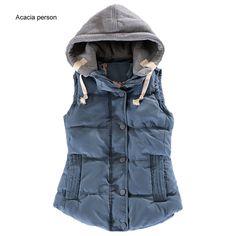 Women Vest New Female Outwear Sleeveless Jacket Winter Down Cotton Warm Women Waistcoat Plus Size Casual Vest YL0375c