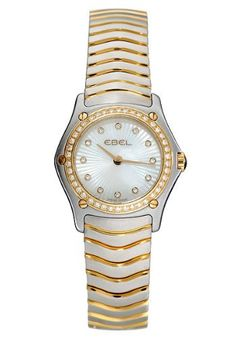 Ebel Classic Wave White Mother-of-Pearl Dial 18K Yellow Gold and Stainless Steel Diamond Ladies Watch 1157F16-9925 Ebel, http://www.amazon.co.uk/dp/B002TUSH90/ref=cm_sw_r_pi_dp_jFXAsb0VM398B 2500£
