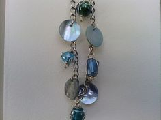 Beautiful Blue/Aqua Sea Charm Bracelet by MagicalDragonfly on Etsy