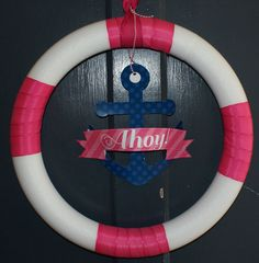 Wreath at a Nautical Party #nautical #partywreath