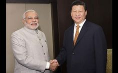 Chinese President Xi Jinping meets with Indian Prime Minister Narendra Modi on the sidelines of the BRICS Summit in Fortaleza, Brazil on July - XINHUA Brics, July 14, Prime Minister, Vows, Brazil, Presidents, Suit Jacket, Chinese, Indian
