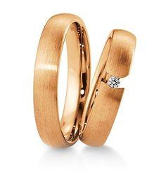 Breuning Trouwringen | Inspiration collectie gouden ringen | 4,5mm briljant 0.04ct verkrijgbaar in 8,14 en 18 karaat | 48041270 / 48041280 OOK in Geel en wit goud verkrijgbaar
