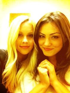 Claire Holt & Phoebe Tonkin-- Both used to be on H2O now on Vampire Diaries.