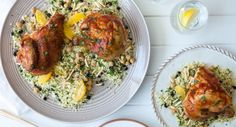 It's easy to spice up a hot BBQ chicken with this Moroccan-inspired dish.  #dinner #recipe #couscous