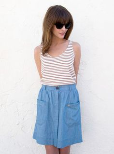 The Penny Skirt in Chambray