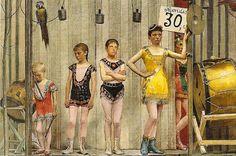 Fernand Pelez, Grimaces et misère - Les Saltimbanques, 1888 (detail)