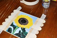 I am so totally doing this.    Popsicle stick picture puzzles - what a perfect idea for toddlers, and for older kids who want to draw their own.