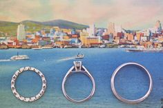 Great ring picture idea--on postcard against ocean backdrop!  Put one of your ships in the background!