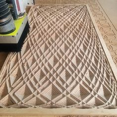 This project explores parametric patterns onto plywood via CNC Router. The plywood allows a unique visual depth to the patterns. A spiral finishing path give a secondary texture within the pattern. Cnc Router, Wood Router, Cnc Woodworking, Woodworking Projects, Used Cnc Machines, Plywood Design, Plywood Art, Prusa I3, Plexiglass