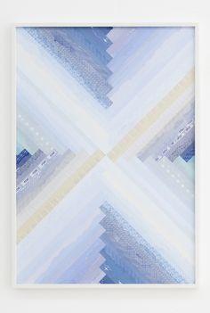 Haegue yang Trustworthy Turban #164 2012 Paper collage, various envelope security patterns, grid paper, framed 100 x 70 cm