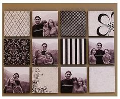 Use styrofoam squares and cover with  paper, fabric, etc. for Lightweight wall art.
