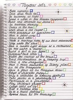 More like a bucket list for me and my future husband... | best friend bucket list ideas tumblr
