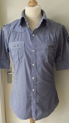 Used Designer Clothing Men Two Stoned Shirt Mens Size XL
