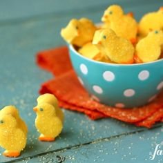 Homemade Marshmallow Chicks from a Farmgirl's Dabbles.    Use cookie cutters to make other shapes too