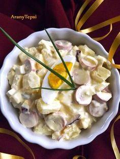 A kedvenc krumplisalátánk egy kis virslivel gazdagítva. Remek köret sültekhez, de önálló ételként is megállja a helyét. Azonnal fogyasztható...