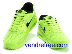 pretty nice c0acd 972ab Vendre Pas Cher Homme Chaussures Nike Air Max 90  (couleurnoir,vertfluorescent) en ligne en France.