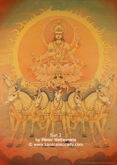 Sun (Surya) in Vedic Astrology and Indian Horoscopes Shiva Art, Krishna Art, Hindu Art, Art Painting Gallery, Mural Painting, Dossier Photo, Lord Vishnu Wallpapers, Lord Krishna Images, Krishna Painting