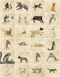 Medieval Dog Tiles.
