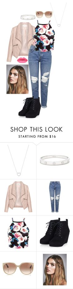 """""""flower power"""" by aleenaaaaaaa on Polyvore featuring Tiffany & Co., Cartier, Zizzi, Topshop, Tom Ford, Free People, women's clothing, women, female and woman"""