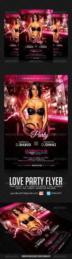 Love Party Flyer Template Download here : http://graphicriver.net/item/love-party-flyer-template/3867627 #love #valentine #premium #flyer #template