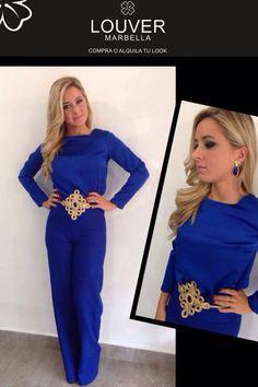 #moda#louver#fashion#azulklein#pantalon#palazzo#blusa#cinturon#pasamaneria#dorado