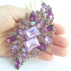 Hey, I found this really awesome Etsy listing at https://www.etsy.com/listing/226285210/elegant-lavender-rhinestone-crystal