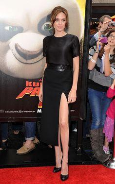 All black t shirt skirt