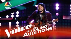 "The Voice 2015 Blind Audition - Gabriel Wolfchild: ""Don't Think Twice, I..."