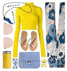 """""""Floral Pants"""" by ivansyd ❤ liked on Polyvore featuring Chloé, Pieces, Jacquemus, Hollister Co., Par Avion Tea, Roberto Cavalli, Haus Of Topper, Versace, Casetify and floralpants"""
