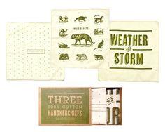 Forrest handkerchief set by Izola $40