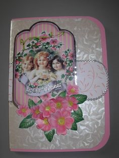 Elegant Ladies Hand made little punched flowers and leaves Printed wild roses, cut out and shaped, with some glossy accents added. Scrapbook Templates, Mothers Day Cards, Leaf Prints, Handmade Flowers, Elegant Woman, Vintage Cards, Fabric Flowers, Handmade Cards, Little Girls