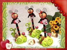 canetas joaninhas + decoração joaninha + lembrancinha joaninha