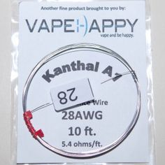 Vapehappy 28 gauge kanthal a1 resistance wire vapehappy vapehappy 28 gauge kanthal a1 resistance wire greentooth Gallery