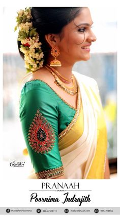 60 ideas indian bridal bun hairstyles the voice Kerala Saree Blouse Designs, Wedding Saree Blouse Designs, Saree Blouse Neck Designs, Simple Blouse Designs, Designer Blouse Patterns, Indian Bridal, Bridal Bun, Bun Hairstyles, Bridal Hairstyles