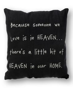 'Heaven in Our Home' Throw Pillow | something special every day