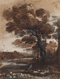"""Claude Lorrain — """"Pastoral Landscape,"""" 1655-1660."""
