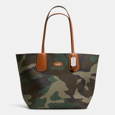 Coach Reversible Taxi Tote 28 In Camo Print Suede on shopstyle.com