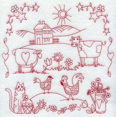 Machine Embroidery Designs at Embroidery Library! - Country Sampler (country sampler