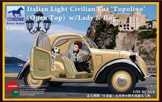 Bronco Models CB35171 Italian Delivery Van w//civilian in 1:35