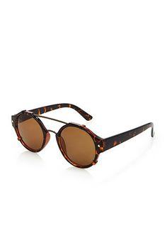 Brow Bar Round Sunglasses   21 MEN - 1000131754