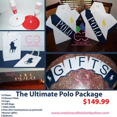 4818dda432fc The Ultimate Polo Package (Include  Plates and Cups