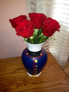Marine Dress Blues Vase. I want to see if I can make an army blues one now that would be awesome :)