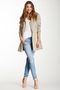 Pair your skinnies with a great trench!