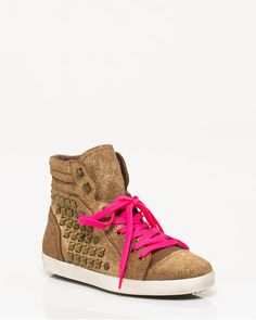 Studded Foil Suede High Tops- LE CHATEAU