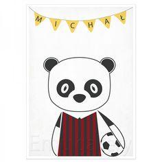 Panda – plakat retro, styl skandynawski, wysokiej jakości wydruk