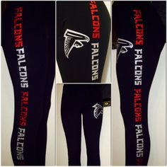 Atlanta Leggings by WendyMarisolDesigns on Etsy (null) Falcons Football, Falcons Gear, Dallas Cowboys, Pittsburgh Steelers, Indianapolis Colts, Cincinnati Reds, Georgia Girls, Atlanta Falcons, Georgia Bulldogs