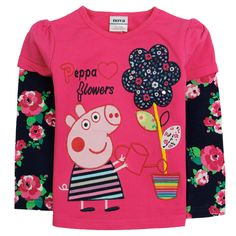 Polera fucsia flor, Tallas 18 meses a 6 años, valor 7.990.- Peppa Pig, Casual Fall, Flower Prints, Christmas Sweaters, Kids Outfits, Polka Dots, Graphic Sweatshirt, Children Clothes, Kids Clothing