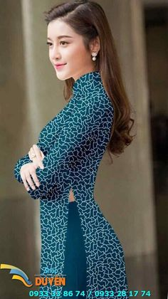 Vải áo dài 3D đặt in Hijab Fashion 2016, Ao Dai, Asian Beauty, Vietnam, In 3d, Fashion Photography, Pretty, Unique, China