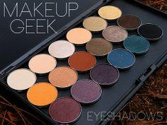 Makeup Geek Eyeshadow Swatches