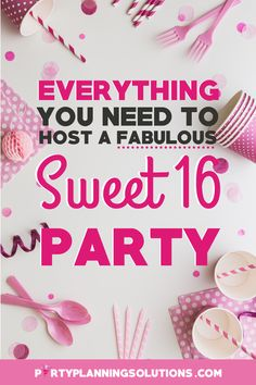 Sweet 16 Party Themes ✓ Decorations and Food ✓ Venue Suggestions ✓ Favors and Gifts... we got that too ;)  #sweet16partyideas #sweet16 #sweetsixteen #partyideas